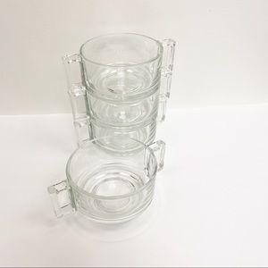 Joe Colombo Italian Glass Coffee Cups